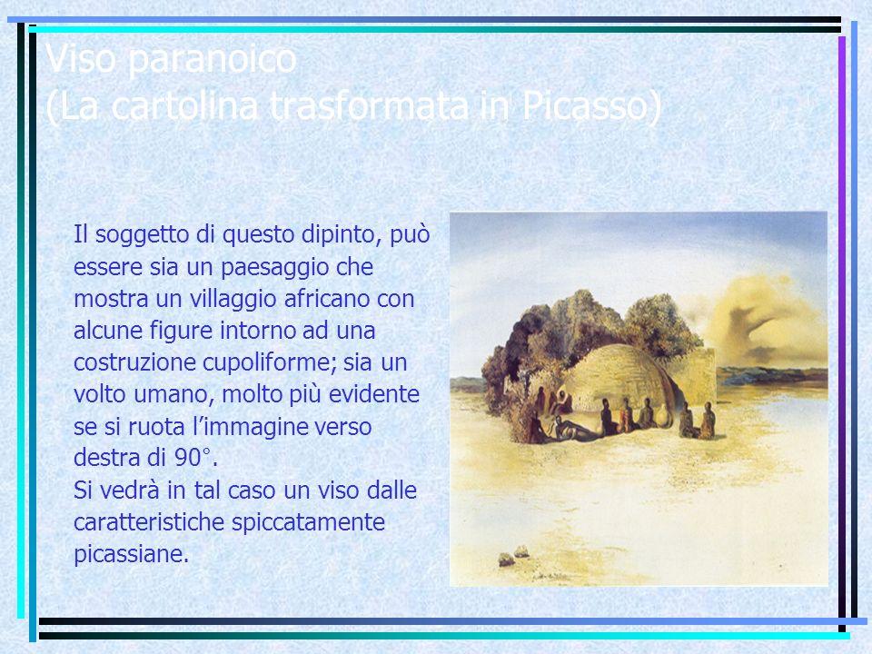 Viso paranoico (La cartolina trasformata in Picasso)