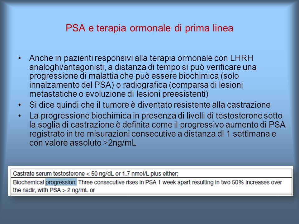 PSA e terapia ormonale di prima linea