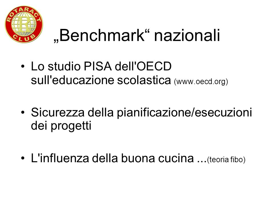 """Benchmark nazionali"