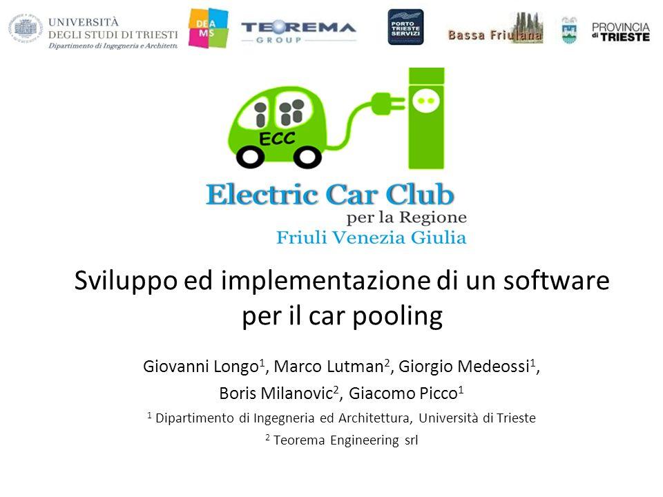 Sviluppo ed implementazione di un software per il car pooling