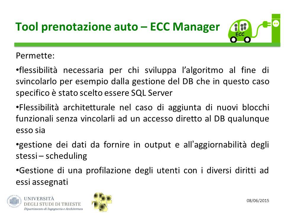 Tool prenotazione auto – ECC Manager