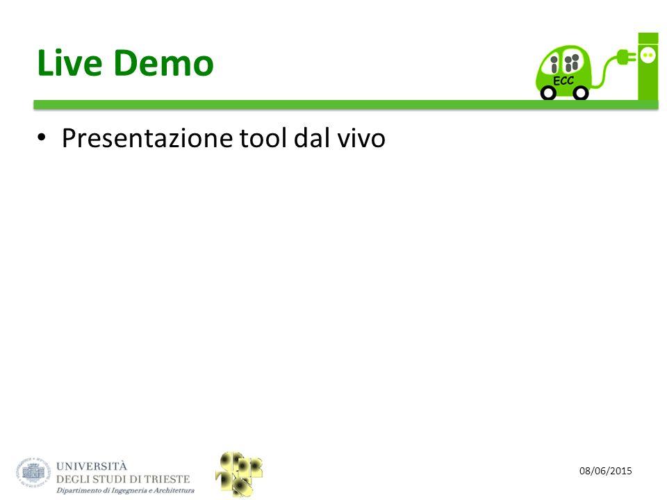 Live Demo Presentazione tool dal vivo 08/06/2015