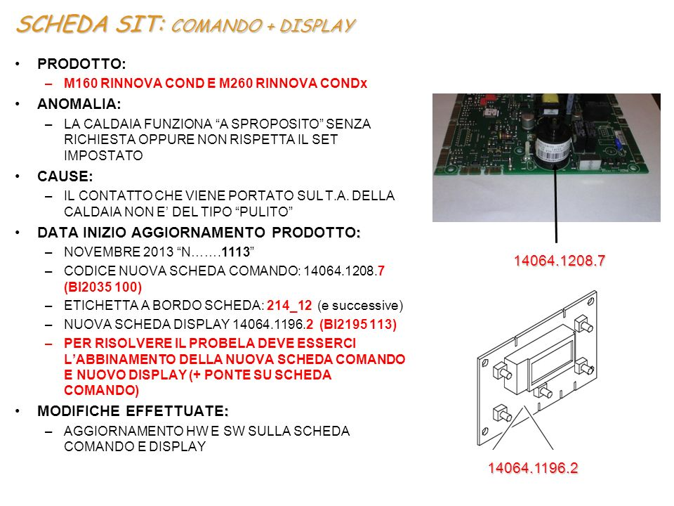 SCHEDA SIT: COMANDO + DISPLAY