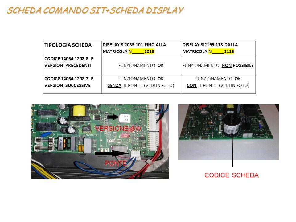 SCHEDA COMANDO SIT+SCHEDA DISPLAY
