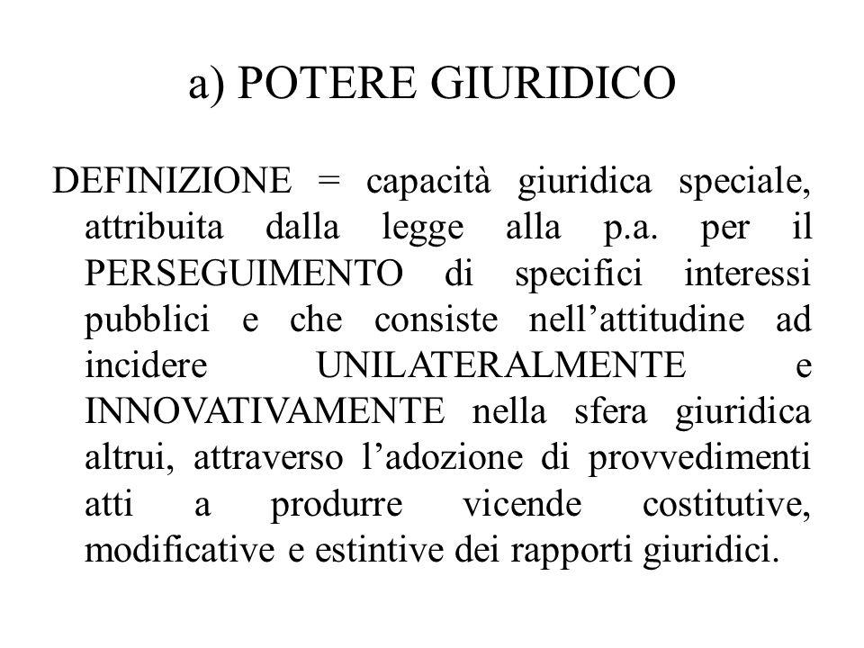 a) POTERE GIURIDICO