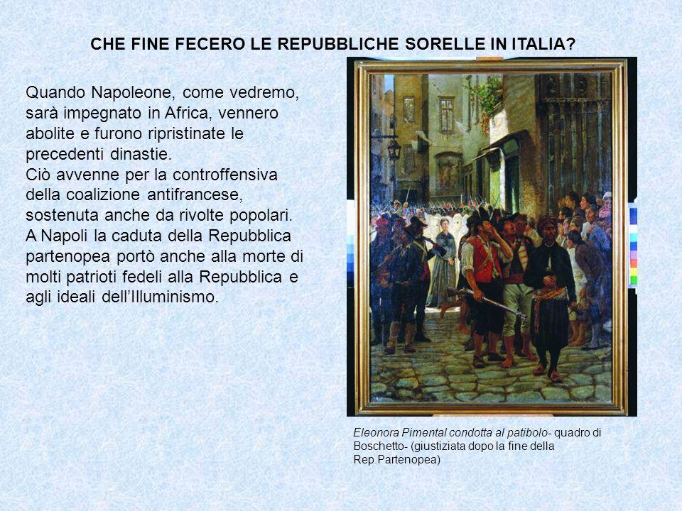 CHE FINE FECERO LE REPUBBLICHE SORELLE IN ITALIA