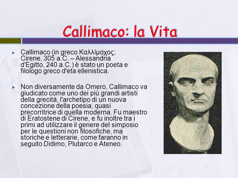 Callimaco: la Vita
