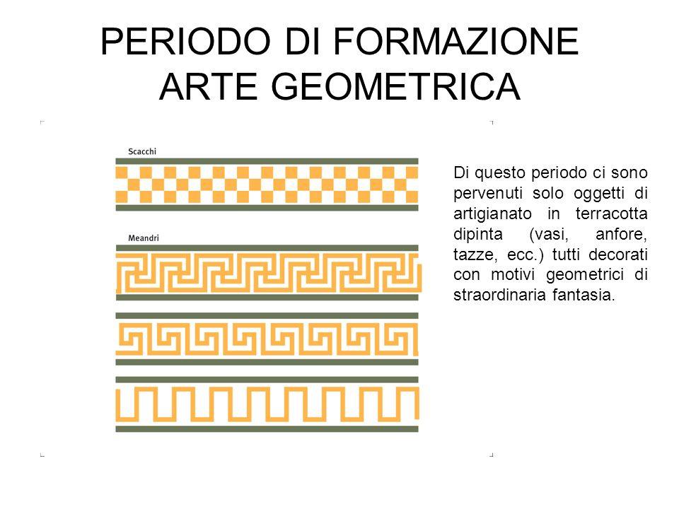 PERIODO DI FORMAZIONE ARTE GEOMETRICA