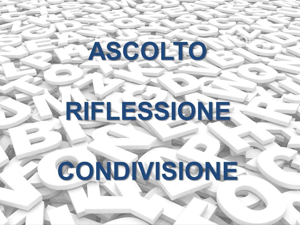 ASCOLTO RIFLESSIONE CONDIVISIONE
