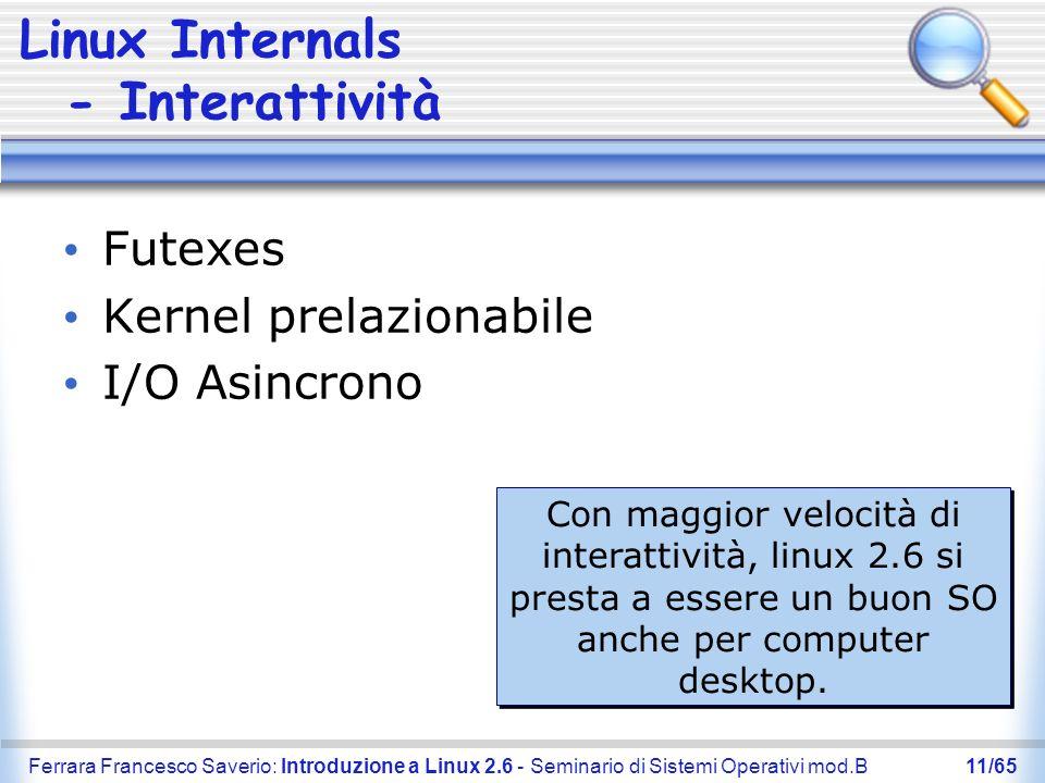 Linux Internals - Interattività