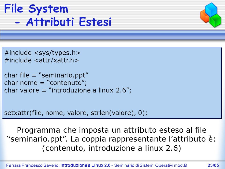 File System - Attributi Estesi