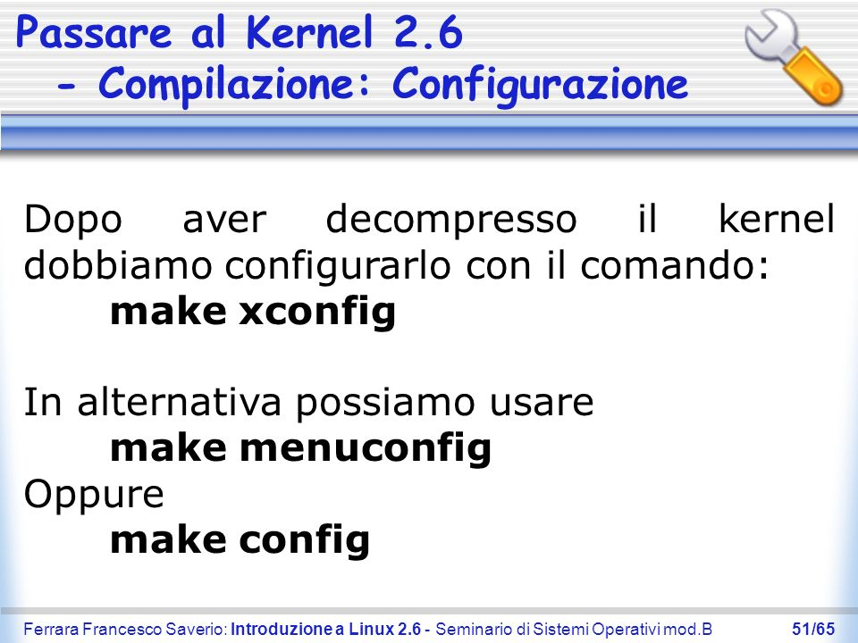 Passare al Kernel 2.6 - Compilazione: Configurazione