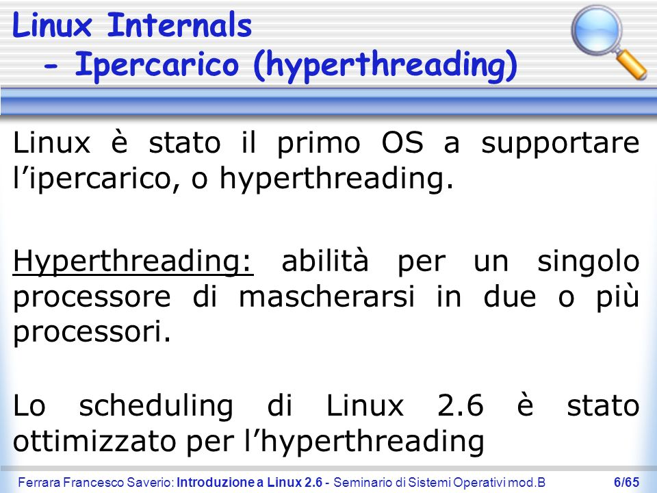 Linux Internals - Ipercarico (hyperthreading)