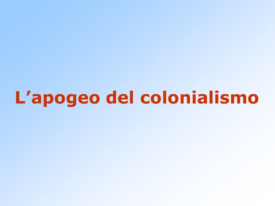 L'apogeo del colonialismo