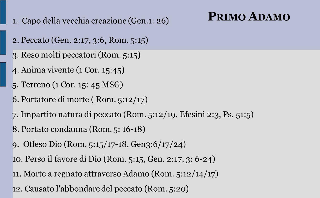 PRIMO ADAMO Capo della vecchia creazione (Gen.1: 26)