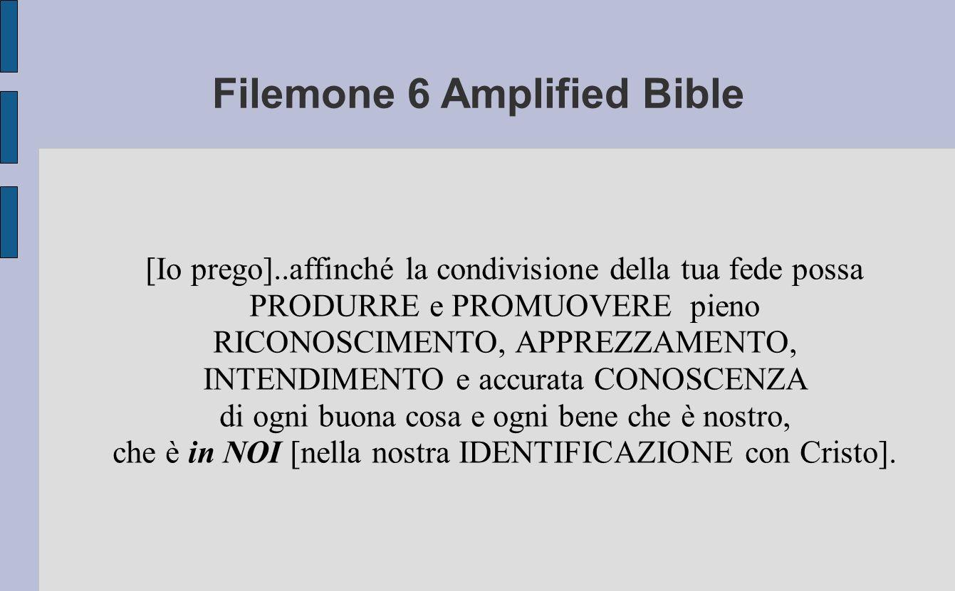 Filemone 6 Amplified Bible
