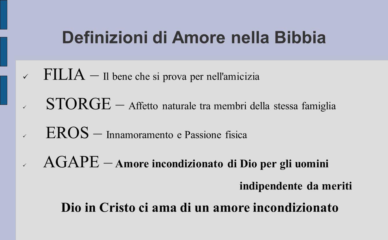 Definizioni di Amore nella Bibbia