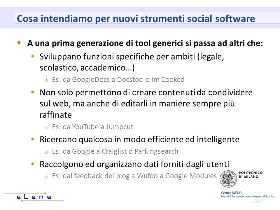 Cosa intendiamo per nuovi strumenti social software
