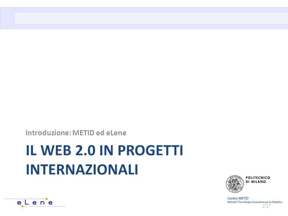Il Web 2.0 in progetti internazionali