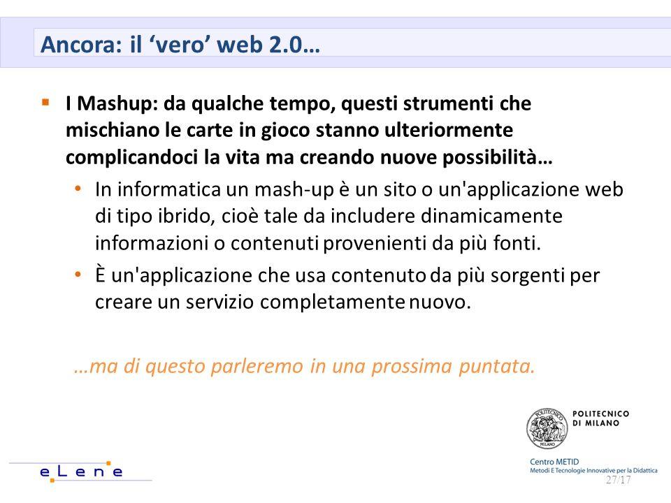 Ancora: il 'vero' web 2.0…