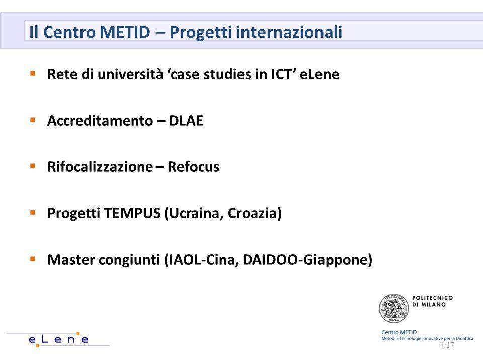 Il Centro METID – Progetti internazionali