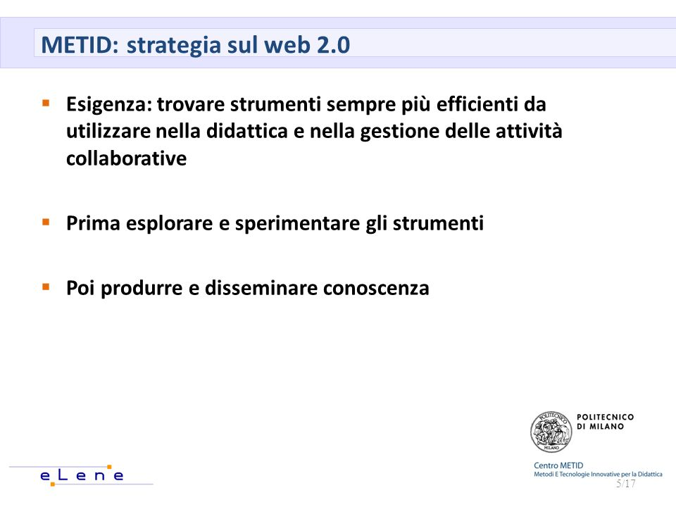 METID: strategia sul web 2.0