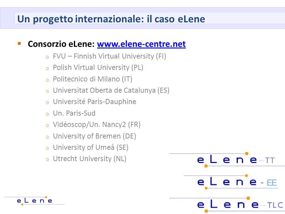 Un progetto internazionale: il caso eLene