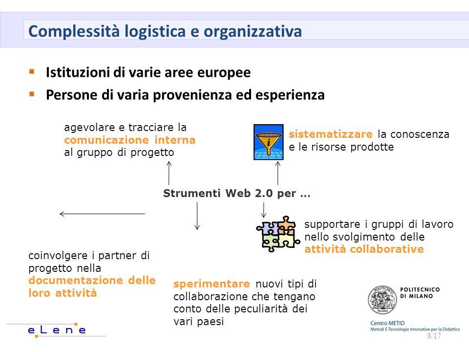Complessità logistica e organizzativa