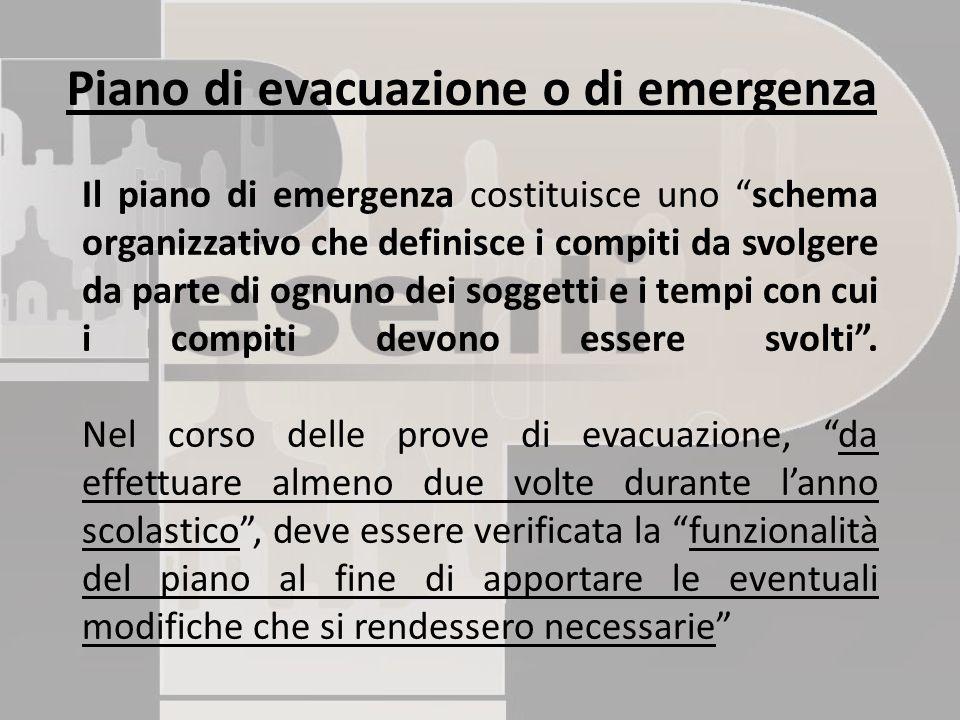 Piano di evacuazione o di emergenza