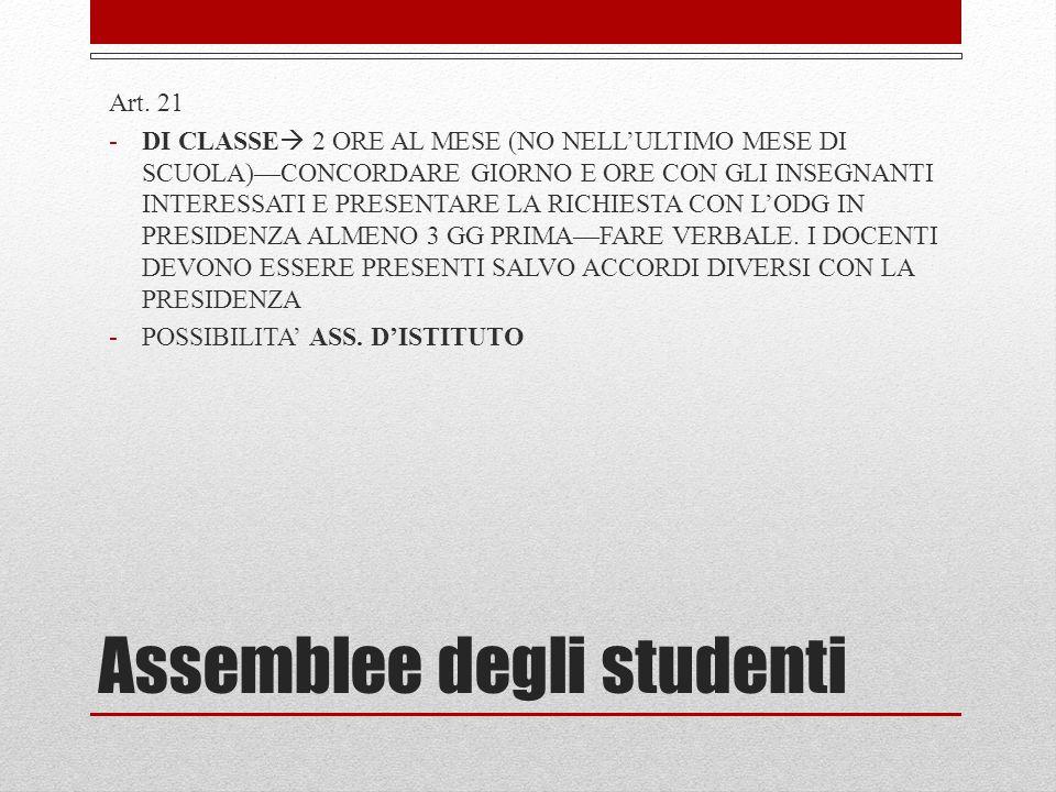 Assemblee degli studenti