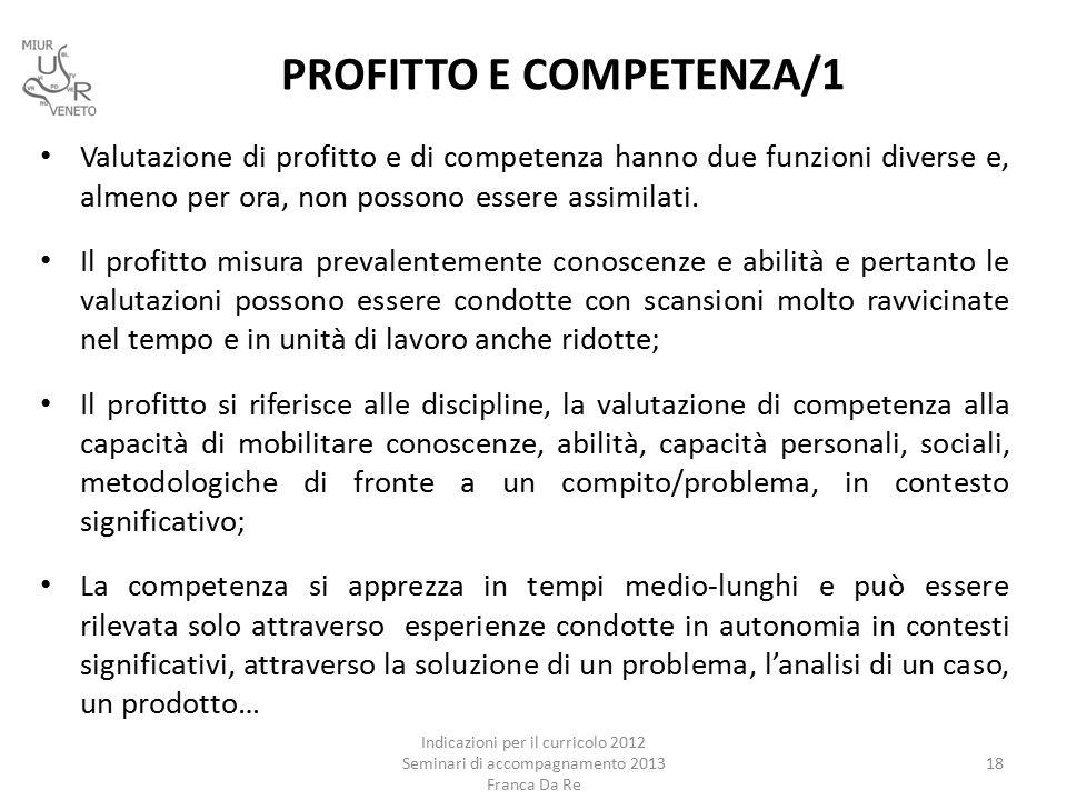 PROFITTO E COMPETENZA/1