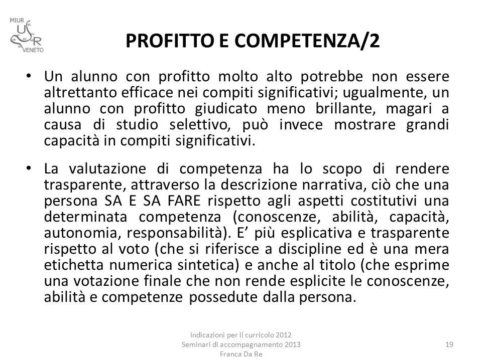 PROFITTO E COMPETENZA/2