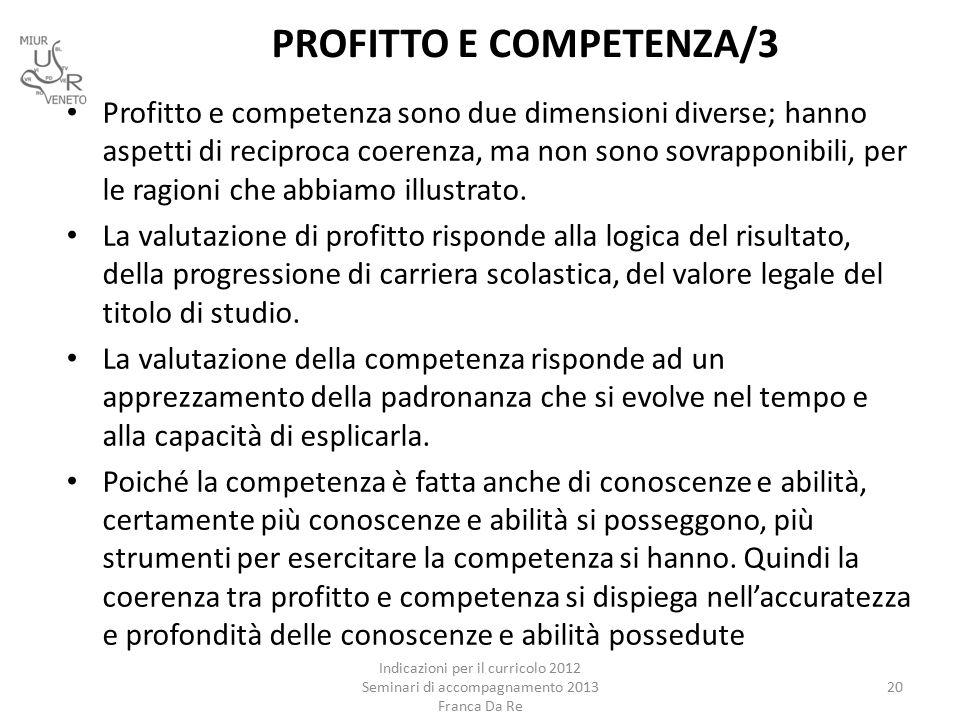 PROFITTO E COMPETENZA/3