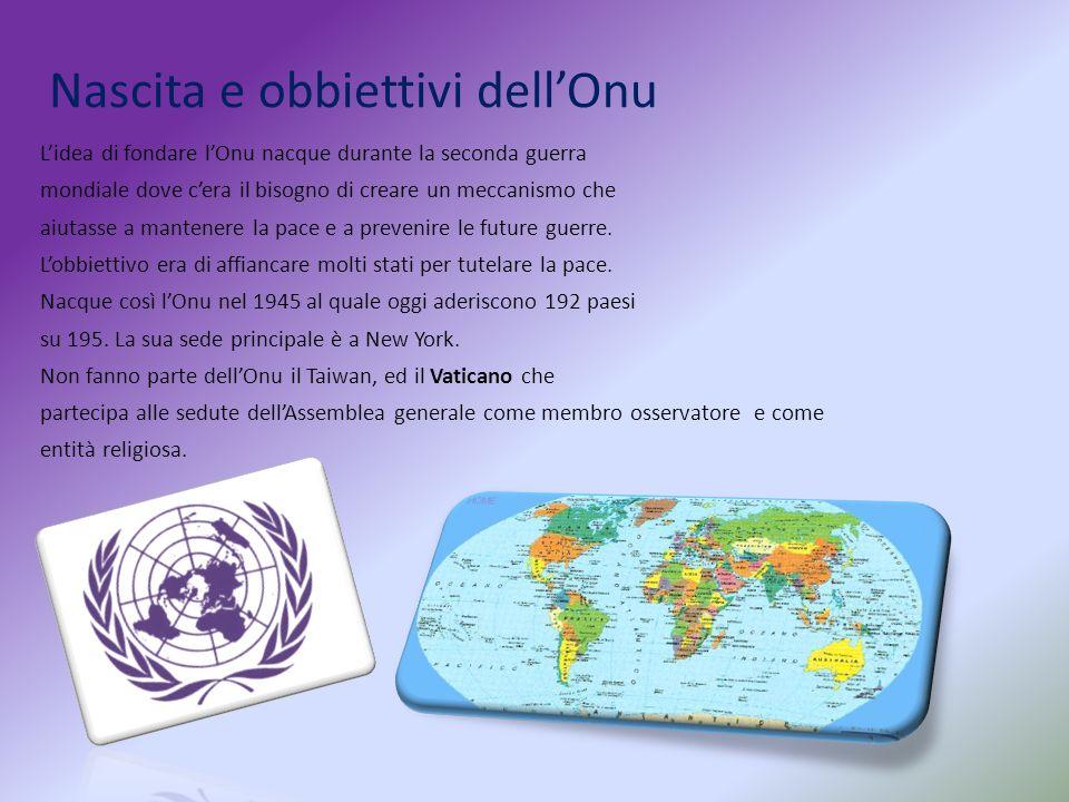 Nascita e obbiettivi dell'Onu