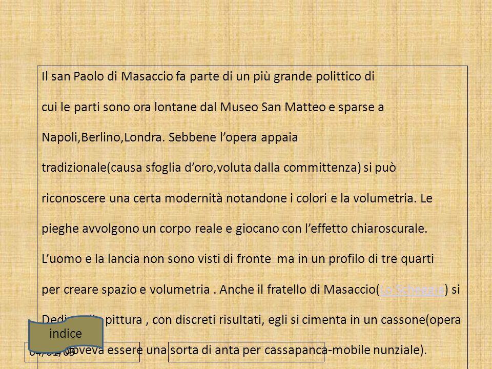 Il san Paolo di Masaccio fa parte di un più grande polittico di
