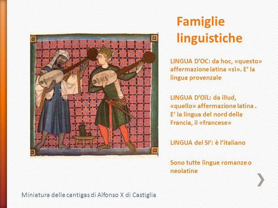 Famiglie linguistiche