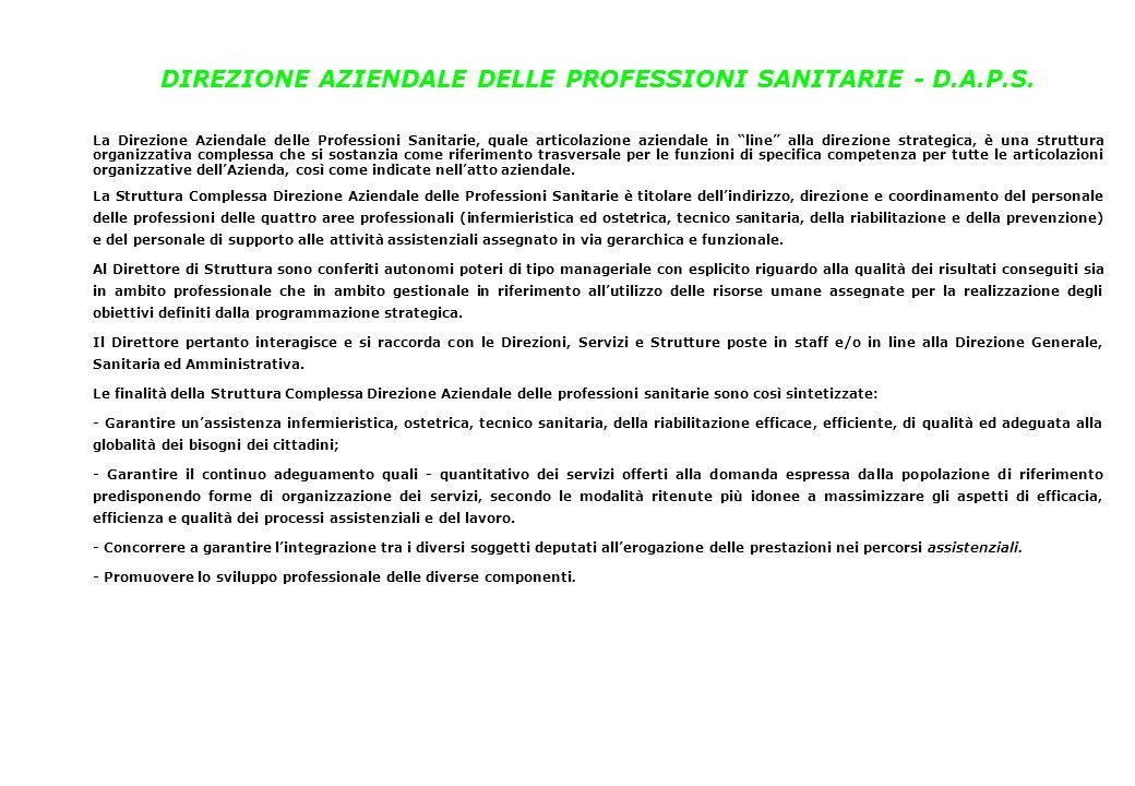 DIREZIONE AZIENDALE DELLE PROFESSIONI SANITARIE - D.A.P.S.