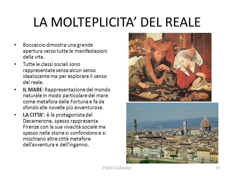 LA MOLTEPLICITA' DEL REALE