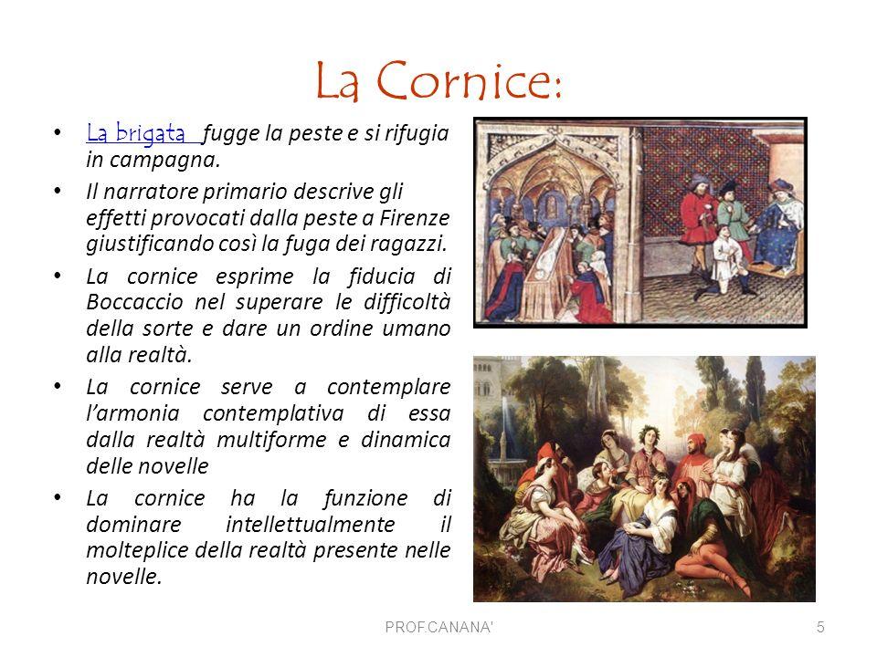 La Cornice: La brigata fugge la peste e si rifugia in campagna.