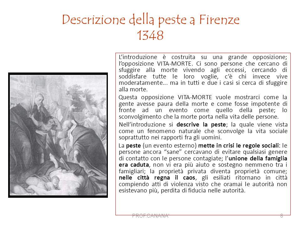 Descrizione della peste a Firenze 1348