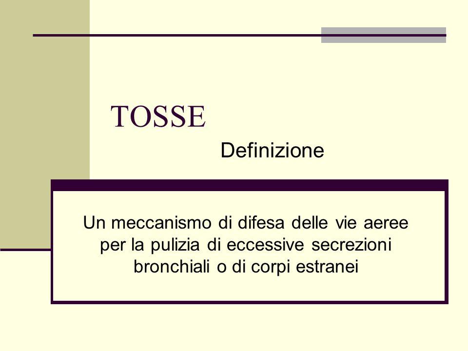 TOSSE Definizione.