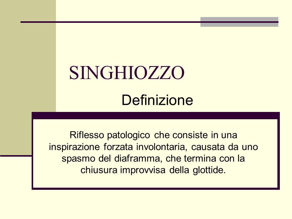 SINGHIOZZO Definizione