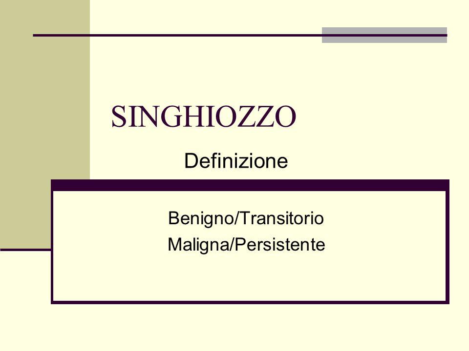 Benigno/Transitorio Maligna/Persistente