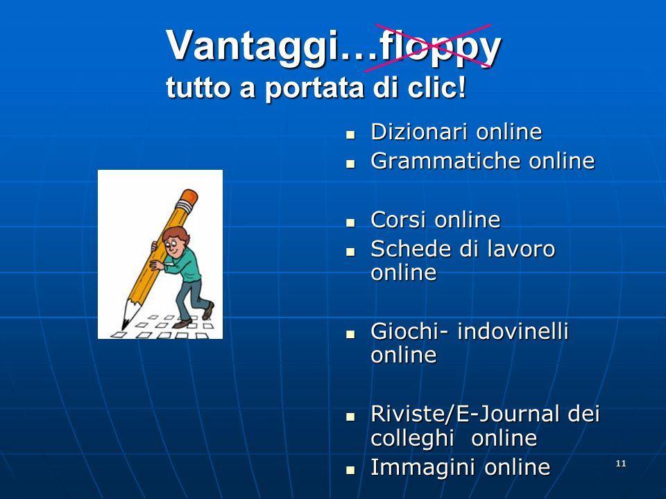 Vantaggi…floppy tutto a portata di clic!