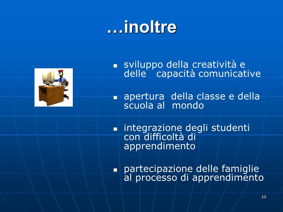 …inoltre sviluppo della creatività e delle capacità comunicative
