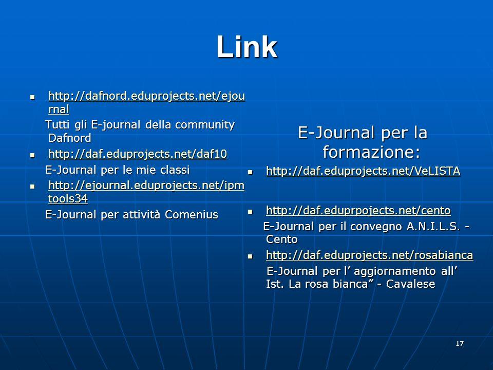 E-Journal per la formazione: