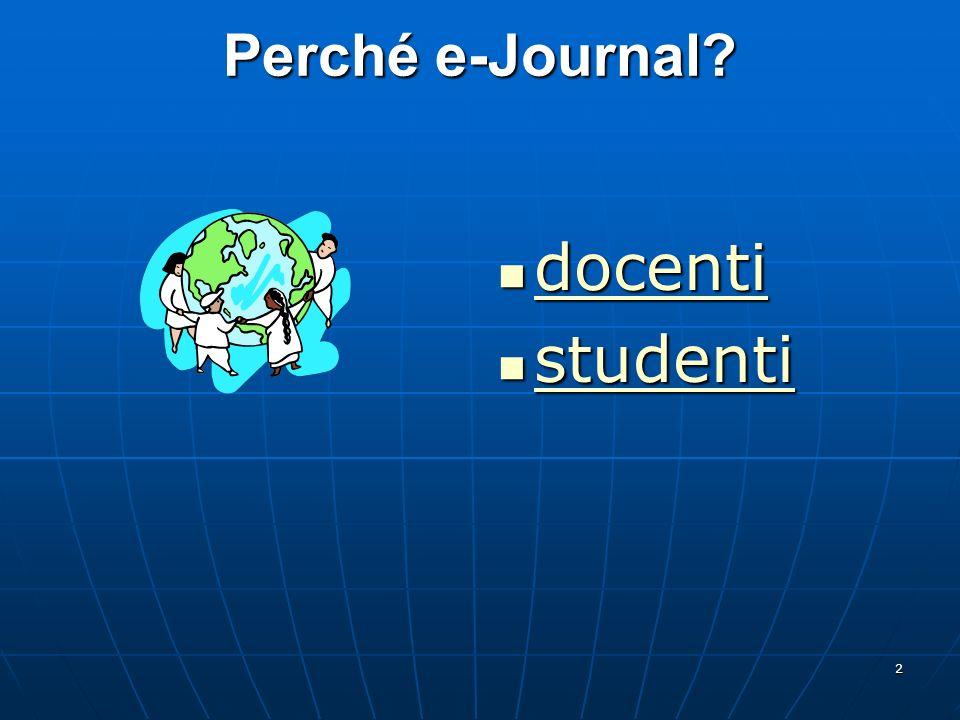 Perché e-Journal docenti studenti