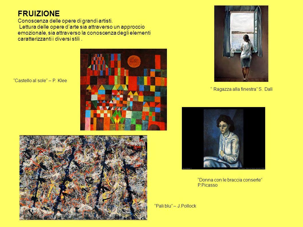 FRUIZIONE Conoscenza delle opere di grandi artisti.