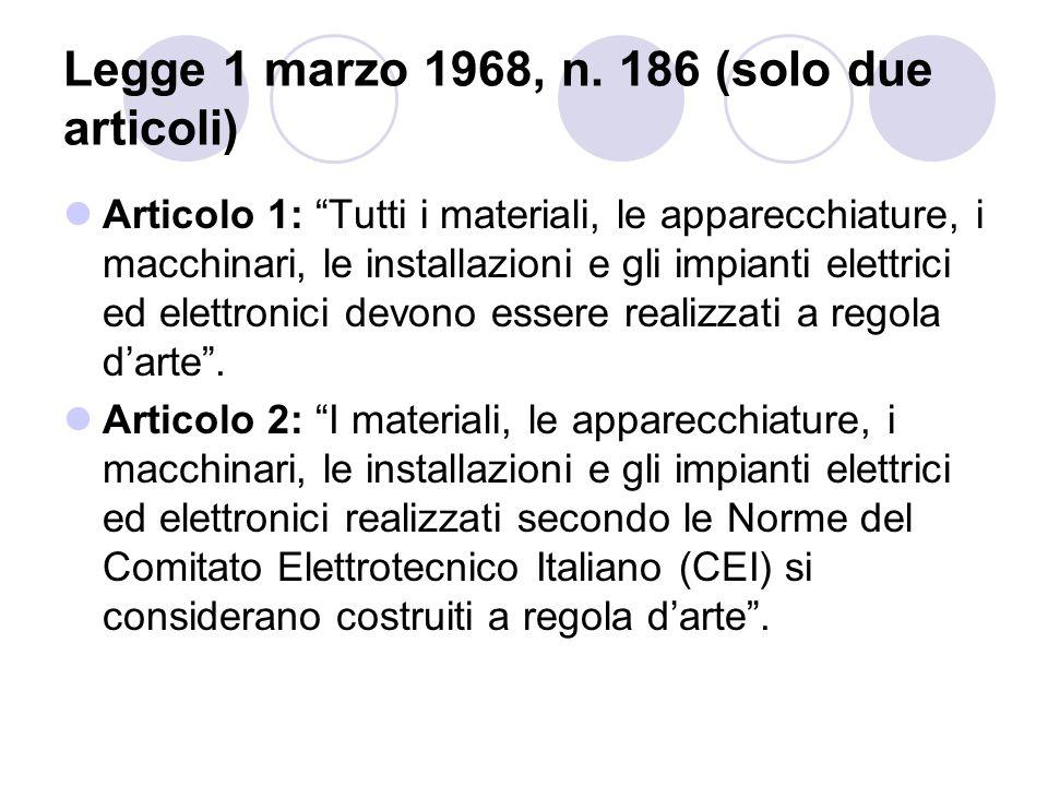 Legge 1 marzo 1968, n. 186 (solo due articoli)