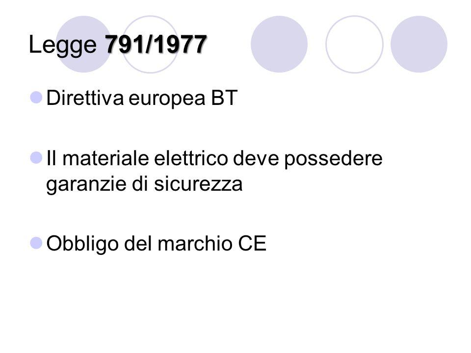 Legge 791/1977 Direttiva europea BT